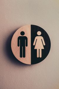 gender sign on wall